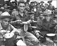 Soldiers of the 65th Infantry training at Camp Santiago, Salinas, Puerto Rico (August 1941)