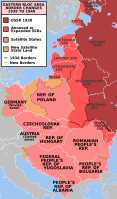 Post-war territorial changes in Europe and the formation of the Eastern Bloc, the so-called 'Iron Curtain'