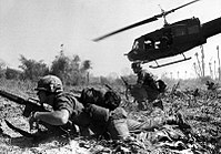 US combat operations during the Battle of Ia Drang, South Vietnam, November 1965