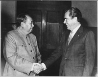 Mao Zedong and US President Richard Nixon, during his visit in China