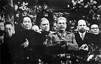 Mao Zedong and Joseph Stalin in Moscow, December 1949