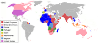 Western colonial empires in Asia and Africa all collapsed in the years after 1945.
