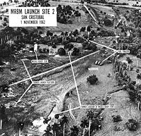 Aerial photograph of a Soviet missile site in Cuba, taken by a US spy aircraft, 1 November 1962