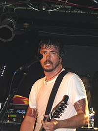 Grohl performing with Foo Fighters in 2006