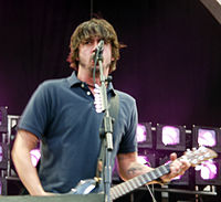 Grohl performing with Foo Fighters in 2003