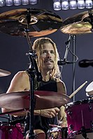Long-time drummer Taylor Hawkins (pictured in 2017) joined the band in 1997.