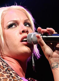 Pink performing in 2006