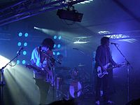 New rave band the Klaxons in concert in 2007