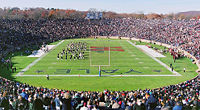 """Yale Bowl during """"The Game"""" between Yale and Harvard. The Bowl was also the home of the NFL's New York Giants in 1973–74."""