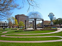 Bayliss Park in downtown Council Bluffs