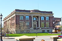 Union Pacific Railroad Museum in the former Carnegie Library in downtown Council Bluffs