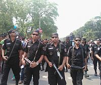 Bangladeshi law-enforcement agencies, including the Rapid Action Battalion (pictured), have been accused of human-rights abuses