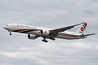 A Boeing 777 of the national flag carrier Biman Bangladesh Airlines