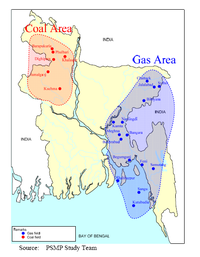 Coal and natural-gas fields in Bangladesh, 2011