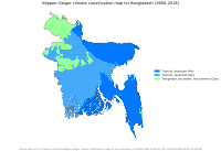 Köppen-Geiger climate classification map for Bangladesh