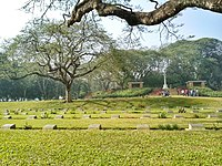 Commonwealth War Cemetery, Mainamati is home to the graves of Allied and Axis soldiers who died during the Burma Campaign
