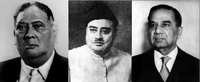 Prime Ministers of Bengal A. K. Fazlul Huq, Khawaja Nazimuddin and H. S. Suhrawardy. One of them, Suhrawardy, proposed an independent Bengal in 1947