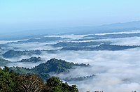 Mountain trekking is a popular activity in the Bandarban District.