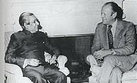 Prime Minister Sheikh Mujibur Rahman and U.S. president Gerald Ford in 1974