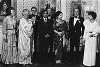 President Ziaur Rahman and First Lady Khaleda Zia with the Dutch royal family in 1979