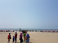 The beach in Cox's Bazar, with an unbroken length of 120 km, is often credited as the longest natural sea beach in the world.