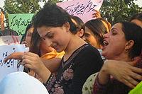 A group of hijras and transgender people protest in Islamabad, Pakistan.