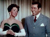 with Mario Lanza in The Toast of New Orleans