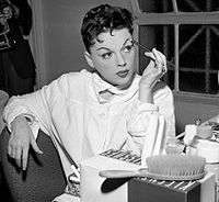 Garland in her dressing room at the Greek Theater (1957)