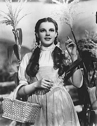 Garland in The Wizard of Oz (1939)