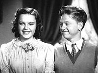Garland and Mickey Rooney in Love Finds Andy Hardy (1938)