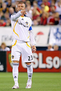 Beckham during a LA Galaxy game in November 2007