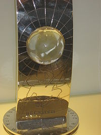 Beckham's 2001 FIFA World Player of the Year runner-up trophy