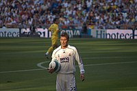 Beckham during his last season with Real Madrid