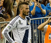 Beckham with LA Galaxy in 2012