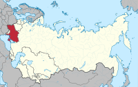 Location of Ukraine (red) within the Soviet Union from 1954