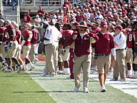 Bobby Bowden on the sidelines of the November 4, 2006 game against Virginia