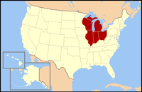 East North Central states