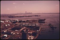 View of Manhattan from Bayonne, 1974