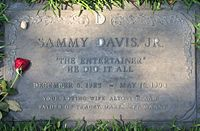 Davis's grave in the Garden of Honor, Forest Lawn Glendale