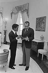 In the Yellow Oval Room of the White House with President Richard Nixon, March 4, 1973