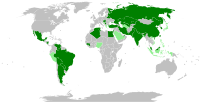 In dark green are the countries that ordered millions of Sputnik V doses. In light green are the countries that have shown interest in obtaining the vaccine or that are already testing it.