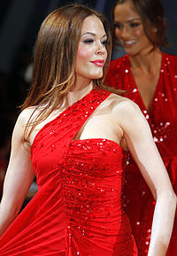 McGowan at The Heart Truth's Red Dress Collection Fashion Show in 2012