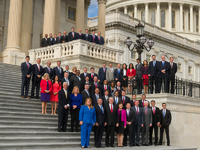 Newly-elected members of the House of Representatives on the Capitol steps