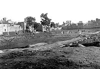 The Jallianwalla Bagh in 1919, months after the massacre