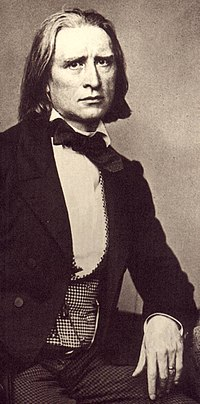 Ferenc (Franz) Liszt, one of the greatest pianists of all time; well-known composer and conductor