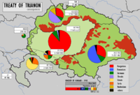 With the Treaty of Trianon, Hungary lost 72% of its territory, its sea ports and 3,425,000 ethnic Hungarians