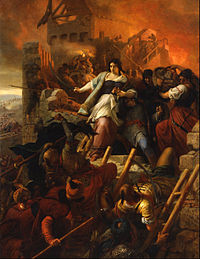 Painting commemorating the Siege of Eger, a major victory against the Ottomans