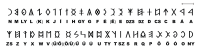 The alphabet of the Székely-Hungarian Rovás script; the country switched to using the Latin alphabet under king Saint Stephen (reign: 1000–1038)