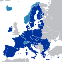 Hungary is part of the European Union's internal market with 508 million consumers and part of Schengen Area