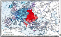 A map of lands ruled by Louis the Great